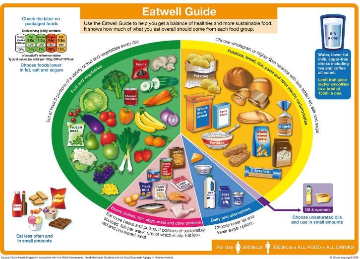 Items - The Eatwell Guide: the new healthy eating model from Public